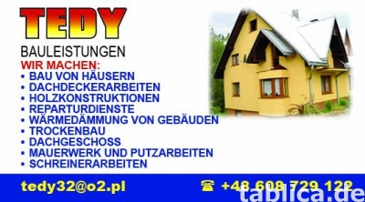 Budowy domów od podstaw, dachy na terenie całych Niemiec