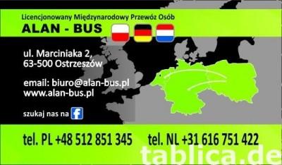 przewozy transport busy Niemcy Pleszew Jarocin Ostrów Kalisz