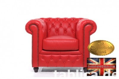 Chesterfield sofa 1 os Brighton czerwien