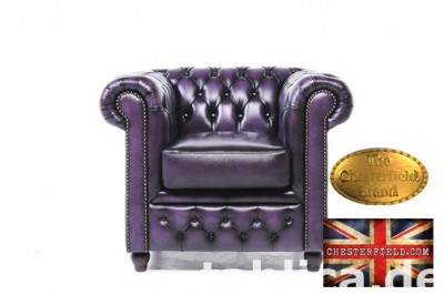 Chesterfield sofa 1 os Brighton fiolet
