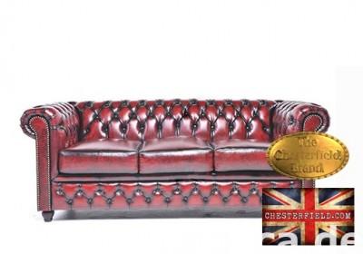 Chesterfield sofa 3 os Brighton antyczne bordo