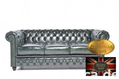 Chestrefield sofa 3 os Brighton zielen