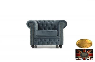 Chesterfield sofa 1 os Brighton Fluweel z zamszu