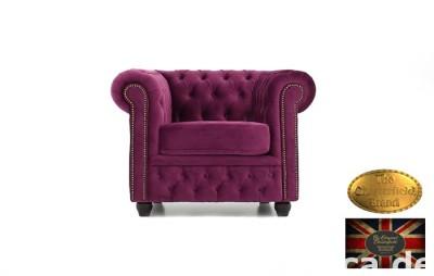 Chesterfield sofa 1 os Brighton Flauweel z zamszu