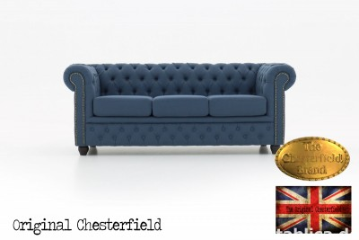 Chesterfield kanapa 3os Pitch z materialu