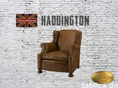 Chesterfield skorzany fotel Haddinghton