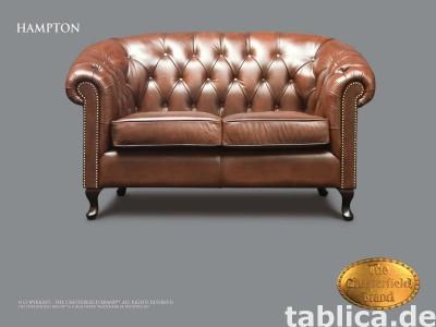 Chesterfield skorzana sofa Hampton