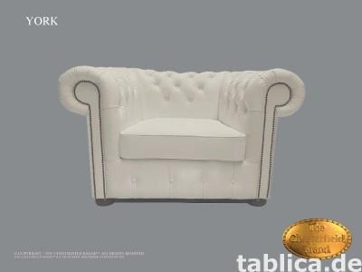 Chesterfield sofa 1 os York biala