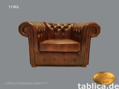 Chesterfield sofa 1 os York Cloudy zloto
