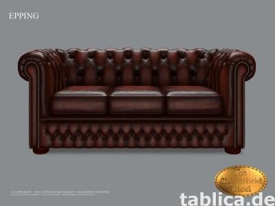 Chesterfield skorzana sofa 3 os Epping kasztan