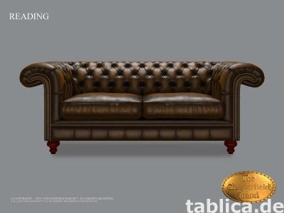 Chesterfield skorzana sofa Reading Royal Tudor