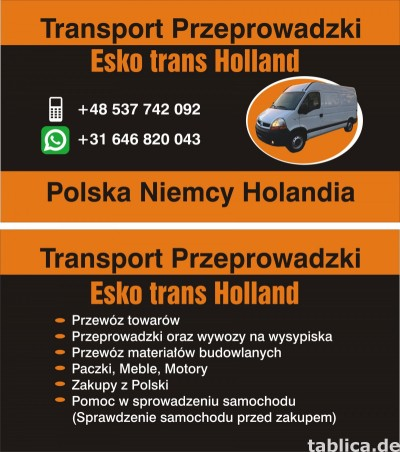 Transport Przeprowadzki Polska Niemcy Holandia Tanio!!!