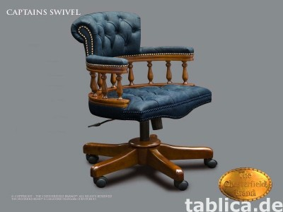 Chesterfield skorzane krzeslo Captains Swivel
