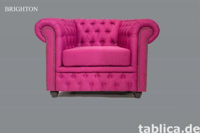 Chesterfield sofa 1 os Bahama tkanina