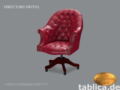 Chesterfield skorzane krzeslo biurowe Gamay