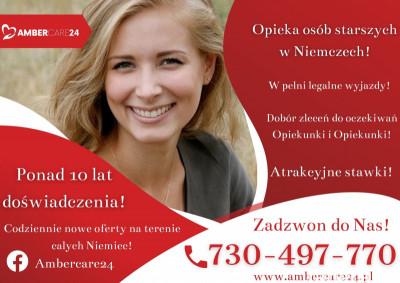 Opieka w Niemczech! Wynagrodzenie do 1800€ +250€  PREMII