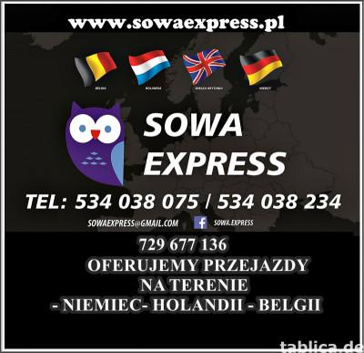 CODZIENNE WYJAZDY POLSKA - NIEMCY-HOLANDIA- BELGIA