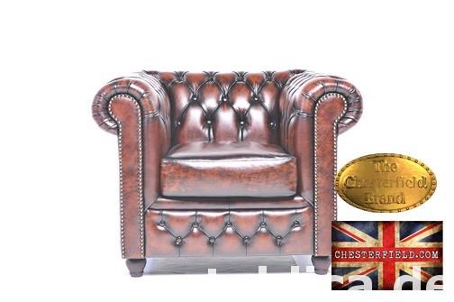 Chesterfield sofa 1 os Brighton antyczny braz 0