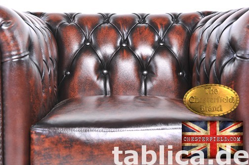 Chesterfield sofa 1 os Brighton antyczny braz 1