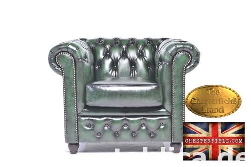 Chesterfield sofa 1 os Brighton zielen 0