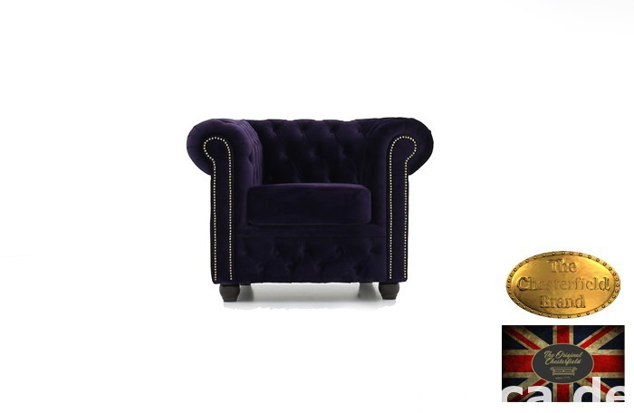 Chesterfield sofa 1 os Brighton Fluweel z zamszu 0