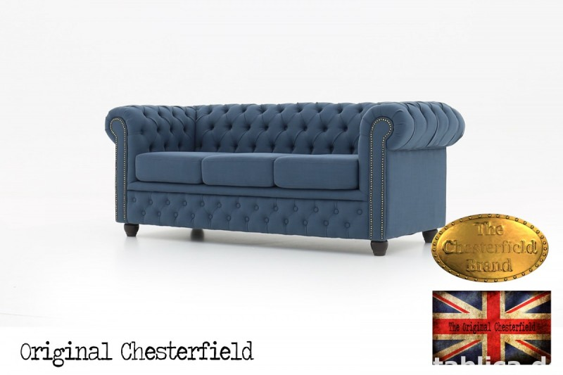 Chesterfield kanapa 3os Pitch z materialu 1