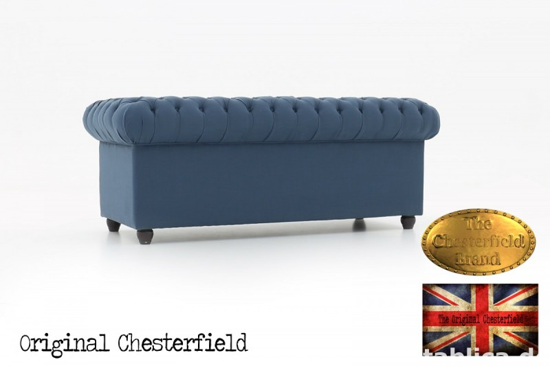 Chesterfield kanapa 3os Pitch z materialu 2