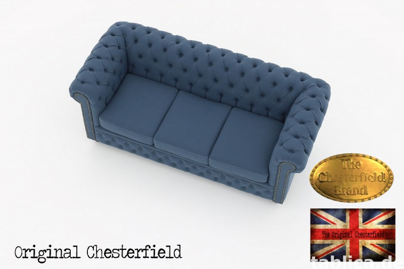 Chesterfield kanapa 3os Pitch z materialu 5