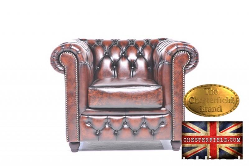 Chesterfield sofa 1 -osobowa Brighton braz 0
