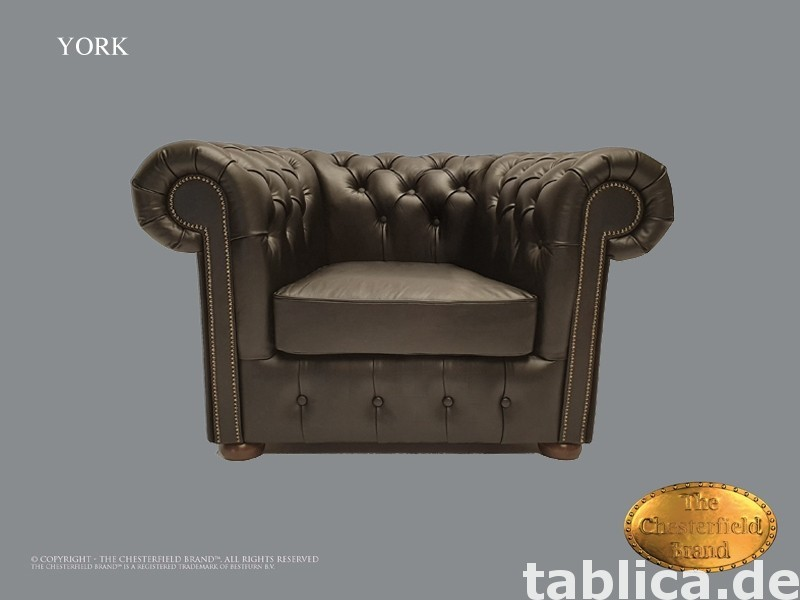 Chesterfield sofa 1 os York czarna  0