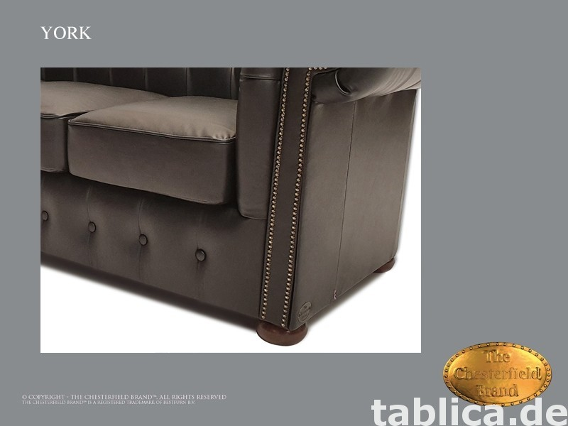 Chesterfield sofa 1 os York czarna  2