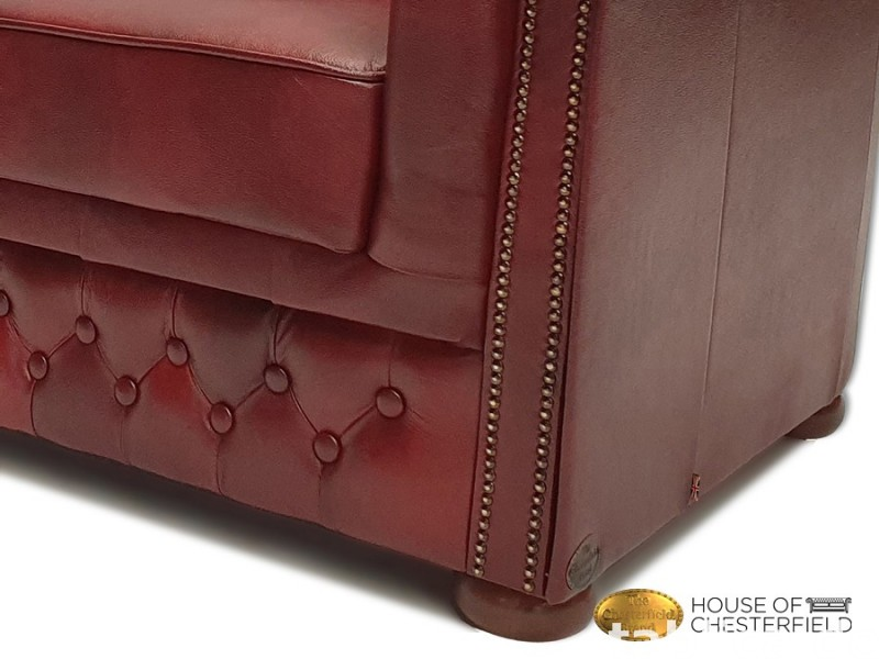 Chesterfield skorzana sofa 3 os NEW York  1