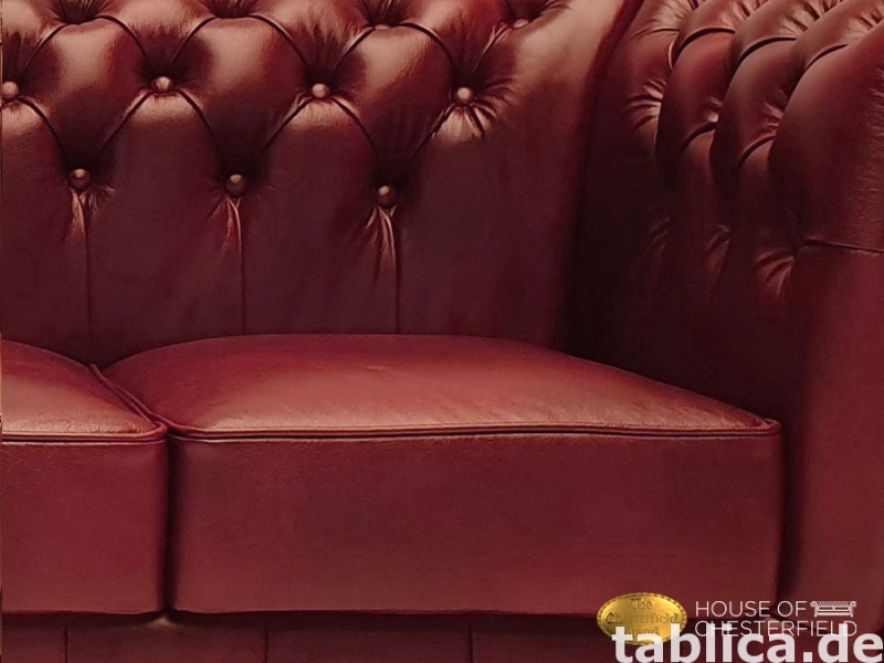 Chesterfield skorzana sofa 3 os NEW York  3