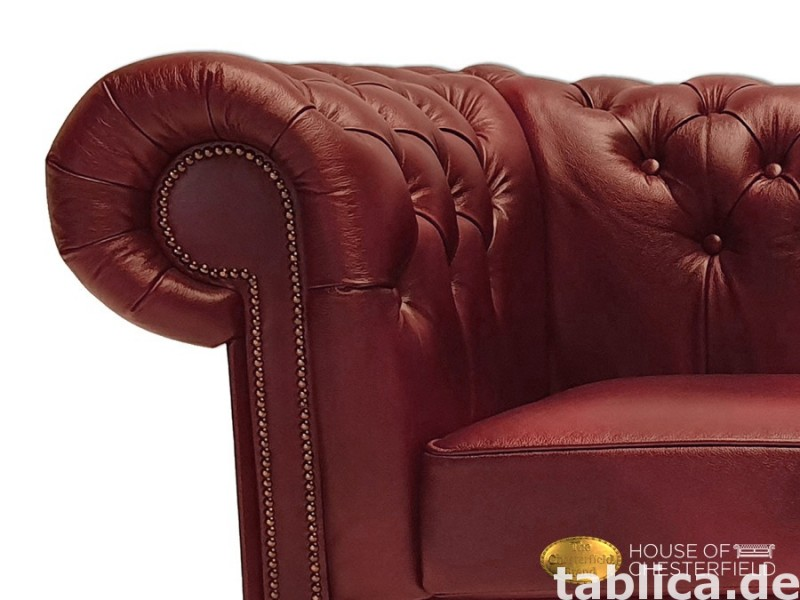 Chesterfield skorzana sofa 3 os NEW York  4