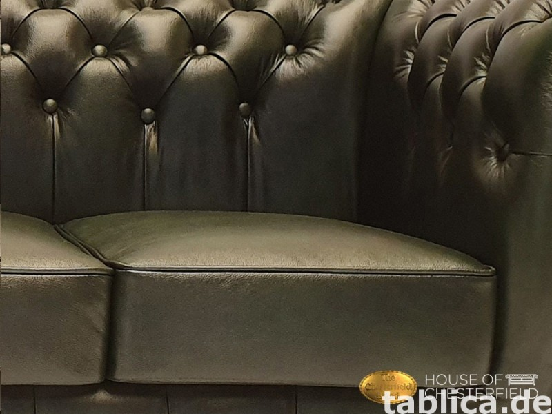 Chesterfield sofa 3 os zielen New York 1