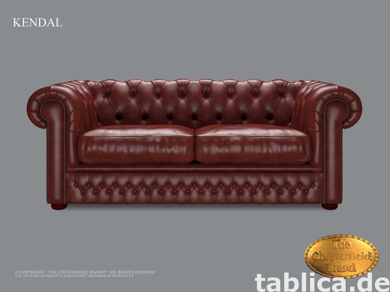 Chesterfield skorzana sofa Kendal bordo 0