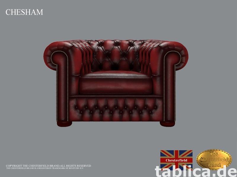 Chesterfield sofa 1 os CHESHAM skora 0
