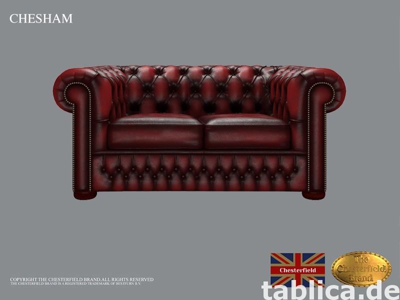 Chesterfield sofa 1 os CHESHAM skora 1