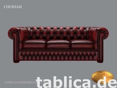 Chesterfield sofa 1 os CHESHAM skora 2
