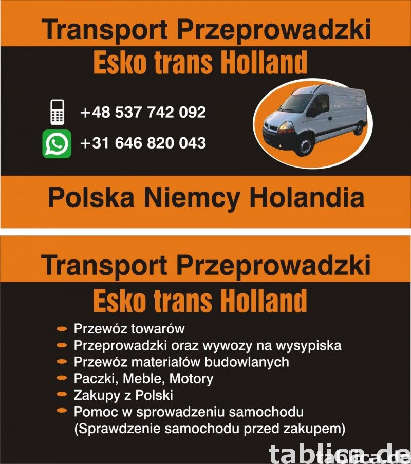 Transport Przeprowadzki Polska Niemcy Holandia 0